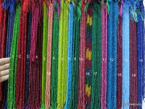 Customer List - 10 strands-- colorful Jade 4MM round FACETED Designer beads--94pcs Full Strand
