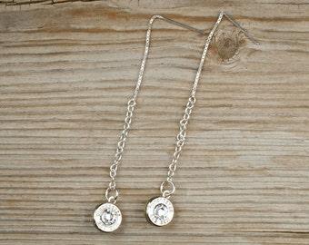 Bullet Earrings / 223 Nickel Bullet Sterling Silver Earring Threads WIN-223-N-EHTR / Earring Threads / Nickel Earrings / Sterling Earrings