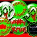 Digital Collage Sheet Holiday Christmas Circle Images Instant Download Bottle Cap Images Christmas clipart images