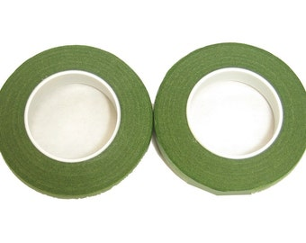 "Floral Corsage Stem Wrap Light Green  - 1/2""w 90'  2 pk"