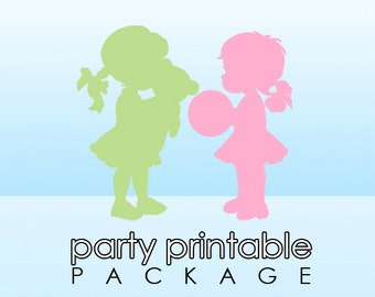 Coordinating Party Printable Package - Choice of 5 Party Items | DIY Printable Party Items