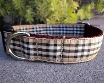"Dog Collar Pride of Scotland Tartan 1"" wide side release adjustable buckle / martingale style is cost upgrade"