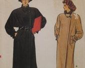 Side Button Coat Pattern, Stand Up Collar, A-line, Vintage 1970s Vogue No. 8781 UNCUT Size 12 14 16