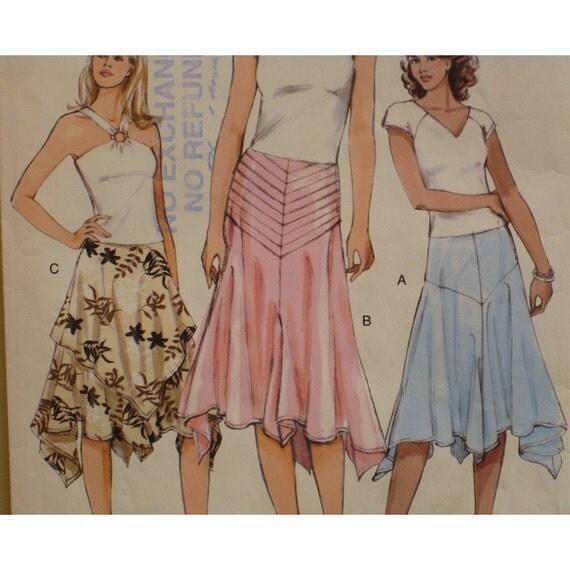 Triangular Hem Skirt Pattern Three Variations Yoke Flared