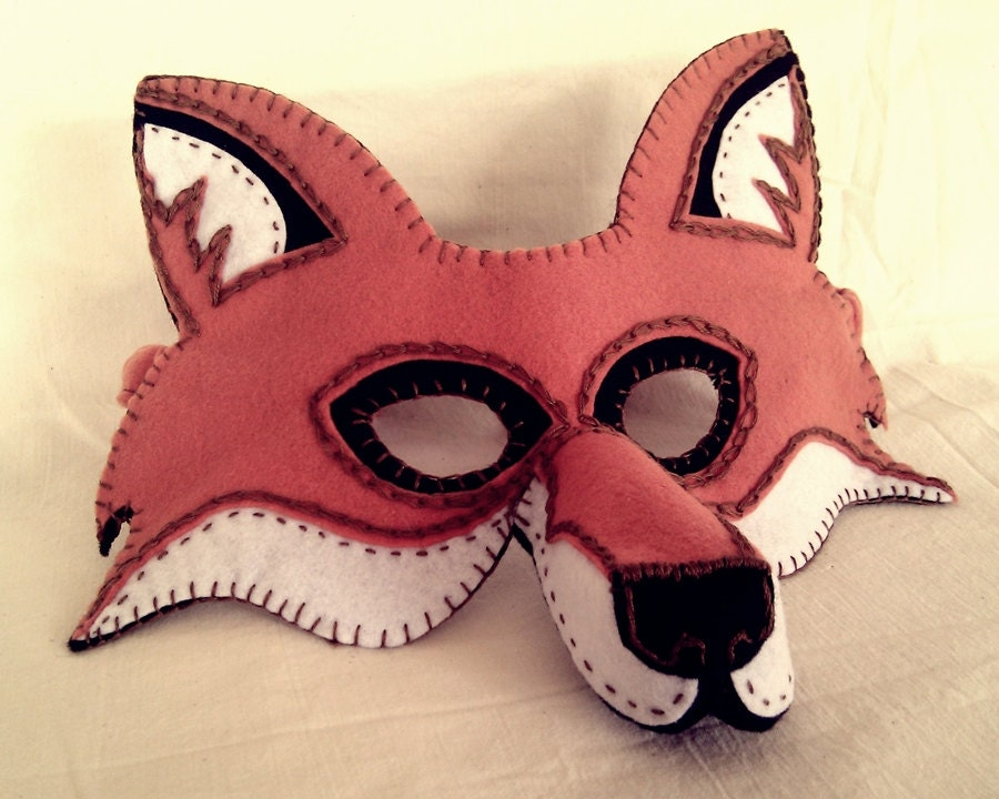 fox mask pdf pattern from oxeyedaisey on etsy studio. Black Bedroom Furniture Sets. Home Design Ideas