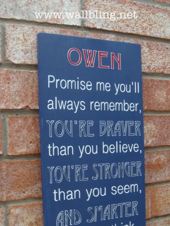 Personalized Promise Me You'll Always Remember... Christopher Robin to Winnie the Pooh - Hand Painted Wood Sign