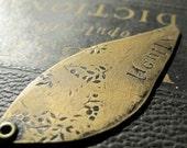 lightly - handmade brass petal pendant