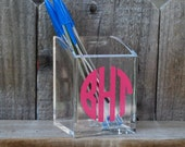 Monogram Pencil Cup or Pesronalized Cosmetic Brush Holder