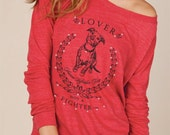 Pit Bull Lover Not A Fighter Slouchy Pullover Shirt