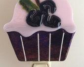 Celebrate the Grape Fused Glass Cupcake Nightlight 2