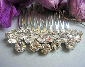 bridal hair comb, wedding hair accessories, sparkle rhinestone hair comb, bridal head piece, bridal hair jewelry