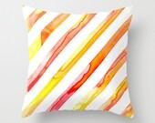 Decorative Pillow Cover - Diagonal Stripes Geometric Design - Throw Cushion - Fine Art Home Decor