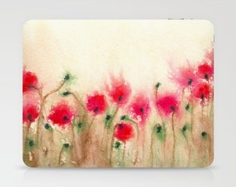Floral Poppies iPad Hard or Folio Case - Designer Device Cover