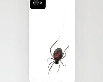 iPhone Case - Black Widow Spider Painting - Designer iPhone Samsung Case