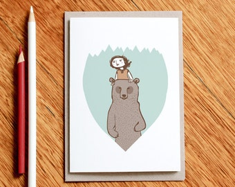 The Chaperone - Greeting Card, Bear card