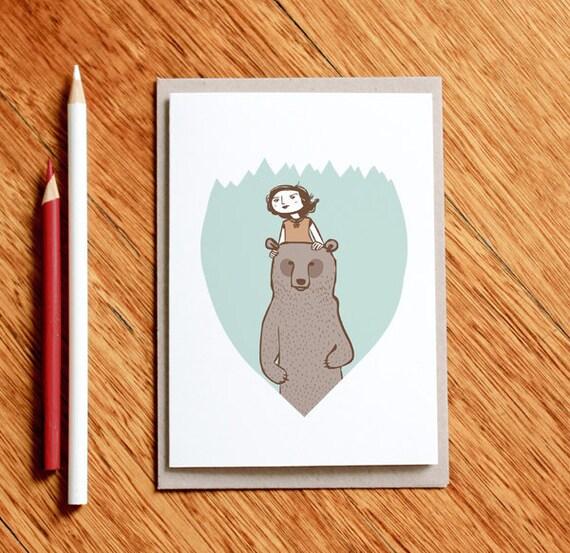 The Chaperone - Greeting Card, Bear card