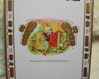 Cigar Box for crafting, purses, supplies  - ROMEO Y JULIETA - Medium size box - Churchill
