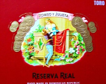 Cigar Box for crafting, purses, supplies  - Romeo Y Julieta - Toro - Empty Box