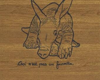 Rene Magritte aARTvark Print, Letterpress Rene Magritte Print, Rene Magritte Print, Letterpress aARTvark