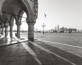 Good Morning Venice in Black and White - Original Signed Photo