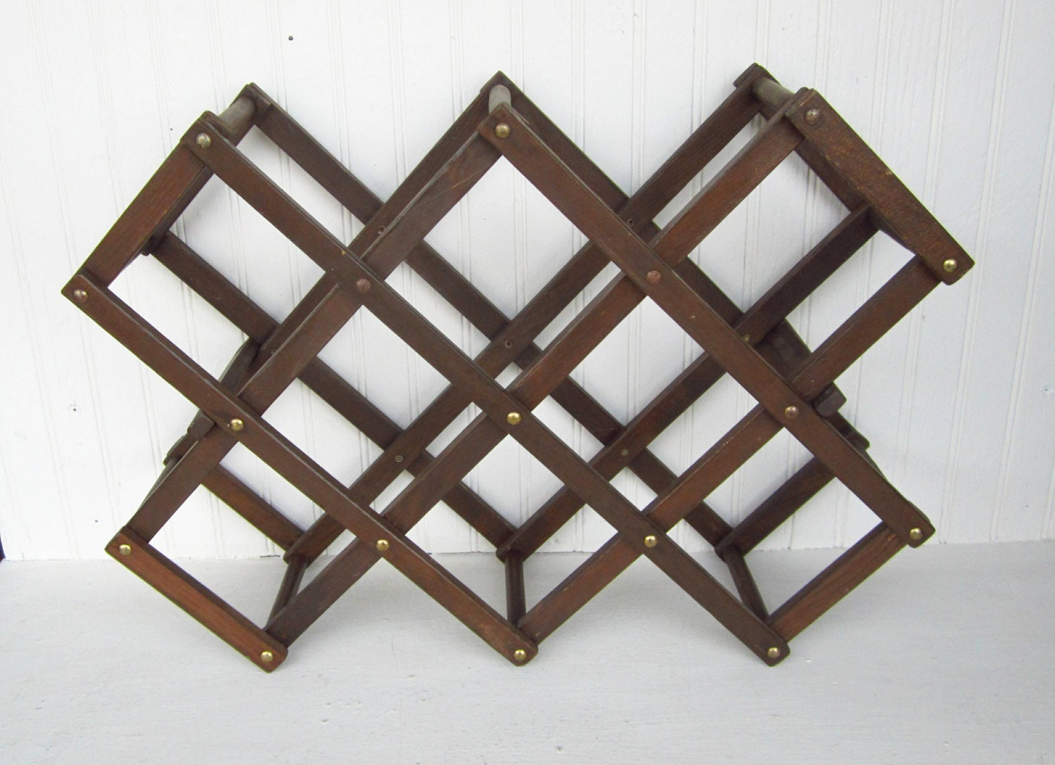 Vintage Wine Rack Wooden Accordion Style By Thejunkman On Etsy