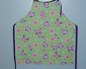 childs apron YOUTH SIZE butterfly peace apron