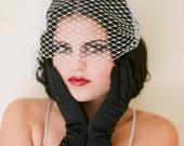 Bridal Veil, Veil, Silver Birdcage - The Louise
