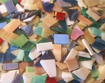 1 pound  Mix freecut glass  Mosaic stained glass tiles handcut tile