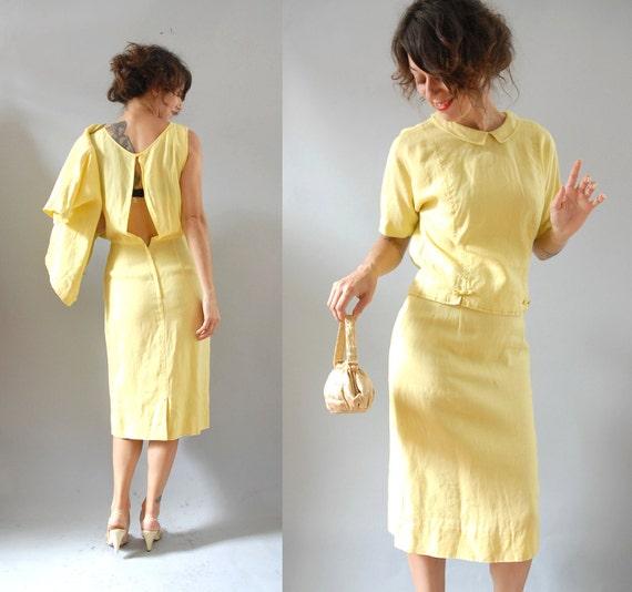 l a s t  c a l l  1960s Dress / 60s Lemon Tart  / Blouse Set