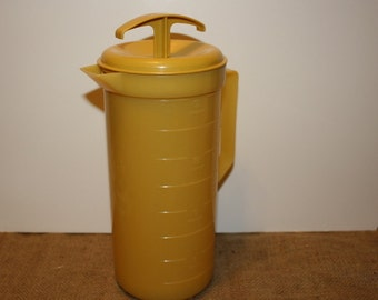 Yellow Plastic Pitcher - Mix and Pour