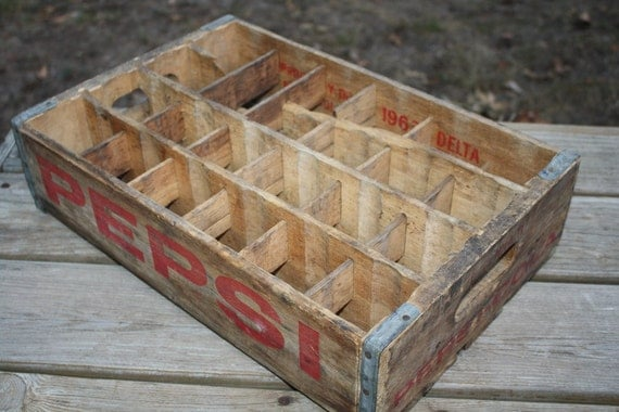 Vintage Pepsi Crate with Dividers