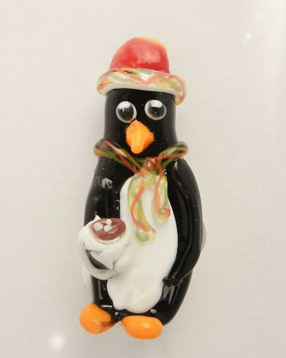 Dopey Penguin with cocoa ornament