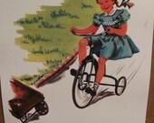 Retro Vintage Illustrated School Book Page Poster -- Circa 1950s   11 x 17