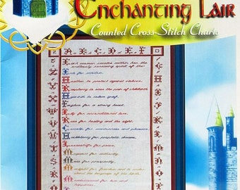 Celtic Woman Sampler - Cross Stitch Chart from Enchanting Lair Designs
