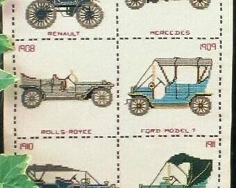 Vintage Cars- Cross Stitch Designs from Framecraft