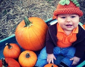 SALE Pumpkin Hat (6-9 months) FREE Overnight Ship