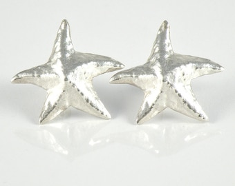 Starfish Earrings, Silver Starfish Post Earrings Gift For Women, Gift for Teens Sea Star Earrings, Sterling Silver Studs, Star Fish Earrings