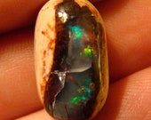 Mexican Fire Opal or Cantera Opal with Awesome Play of Color few Cracks 75 Percent off
