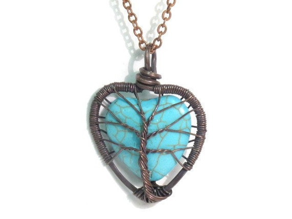 Tree Love A Heart Shaped Turquoise Stone Tree Of Life