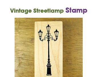 Vintage Streetlamp Rubber Stamp