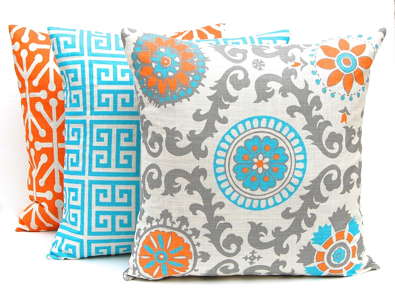 Turquoise Throw Pillows Covers : Orange Pillow Covers Throw Pillow Covers Turquoise Pillow