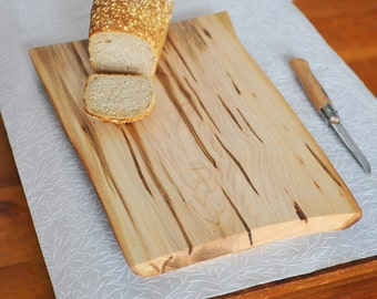 Cutting Board Maple Serving Tray Rustic Bread Board for the Eco Friendly Kitchen
