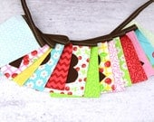 Eco-Friendly Reusable HAPPY BIRTHDAY Fabric Banner - Oh Cherry Oh for Moda Fabrics
