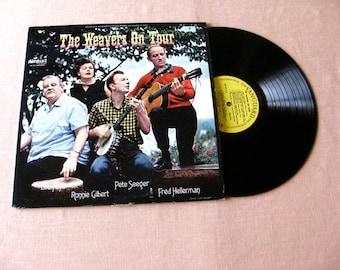 Weavers fifties LP Record Early folk pressing Vanguard Pete Seeger ON TOUR