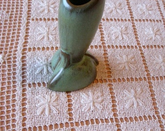 Vintage Frankoma Pottery Bud Vase  Exc No. 32 deco styling FIFTIES