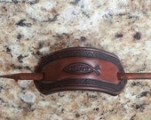 Christian Themed Leather Stick Barrette