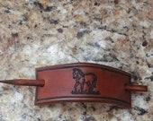 Horse Themed Leather Stick Barrette