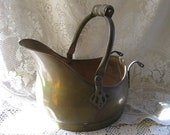 brass bucket with handle fall decorating rustic country farmhouse