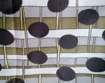 Brown and Tan Geometric Pattern Fabric By the Yard  X0228