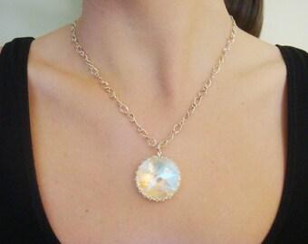 Last One Vintage Swarovski Crystal Necklace
